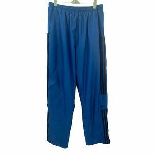 Adidas- Men's ClimaProof Blue/Black Windpants- L